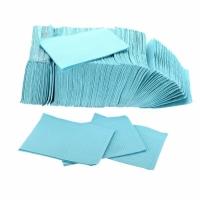 Нагрудники двухслойные Ruscraft, цвет голубой, 500 шт. коробка