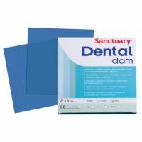 Sanctuary Latex Dental dam, листы для коффердама (средние, 152мм*152мм) латексные синие, 36 шт.