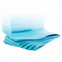 Нагрудники двухслойные Dispoland Dental Bibs, цвет голубой, 500 шт. коробка